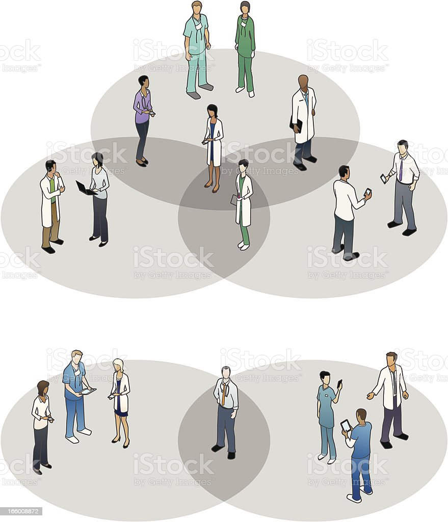 Healthcare Venn Diagrams vector art illustration