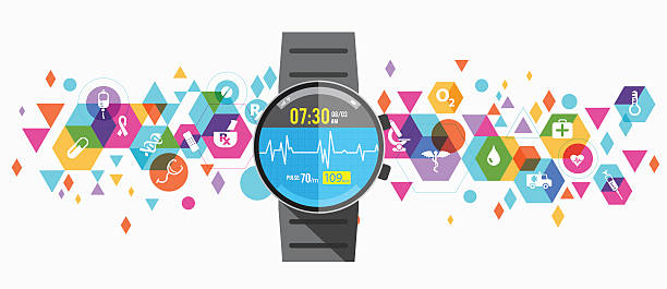 healthcare wearable design - medical equipment stock illustrations, clip art, cartoons, & icons