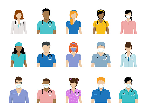 Healthcare Worker Avatars and Doctor Avatars
