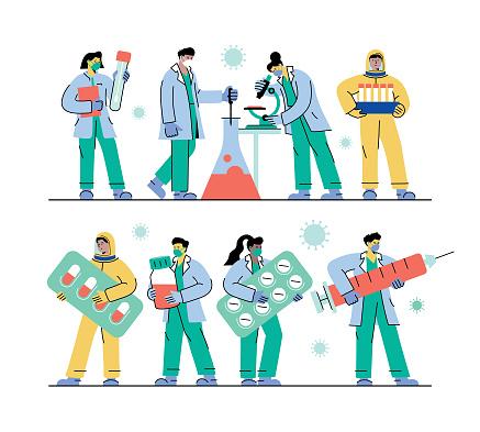 Healthcare workers set