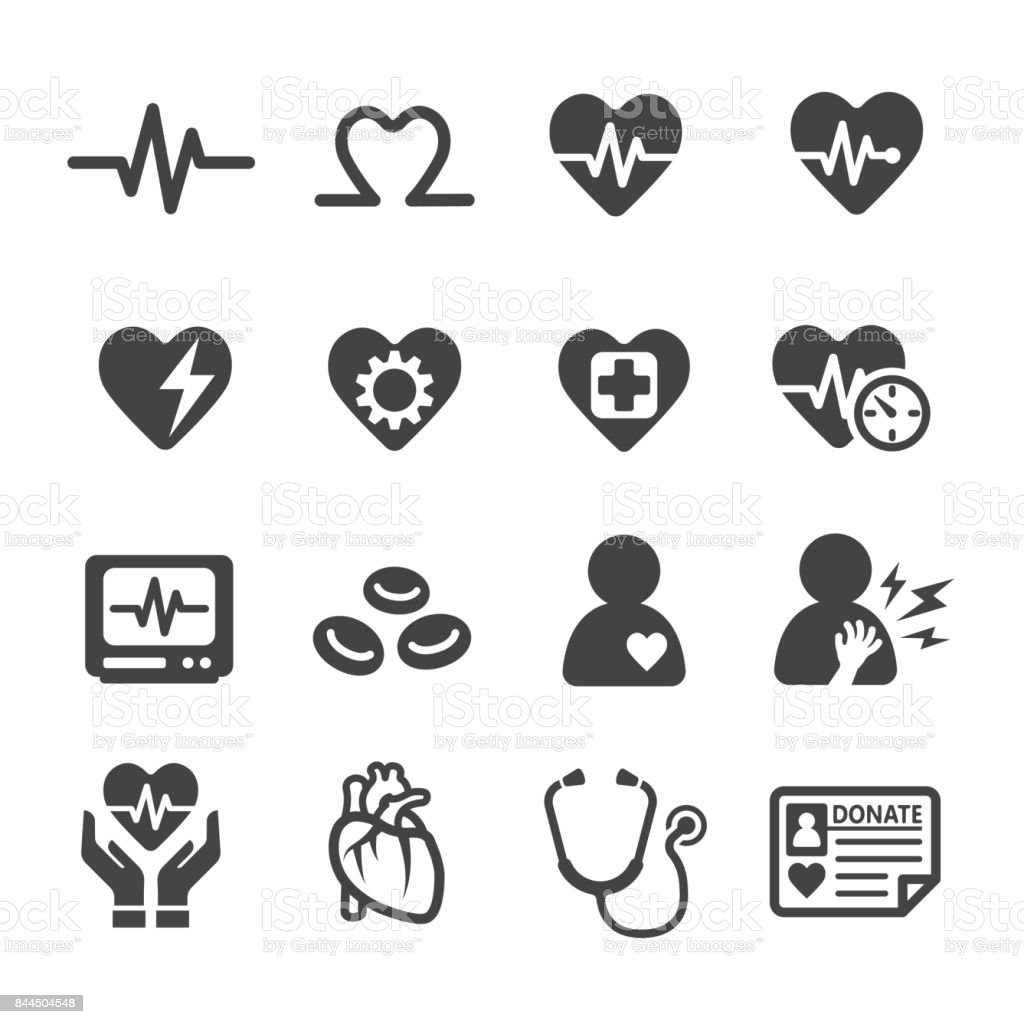 health,heart icon vector art illustration