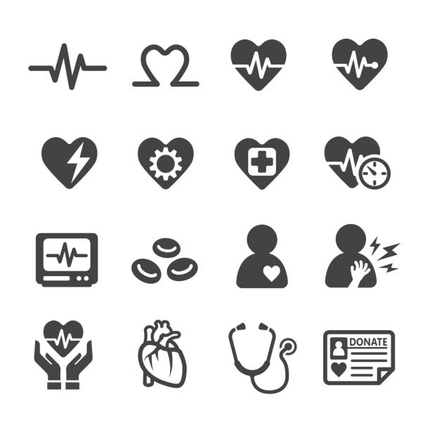 illustrazioni stock, clip art, cartoni animati e icone di tendenza di health,heart icon - elettrocardiogramma