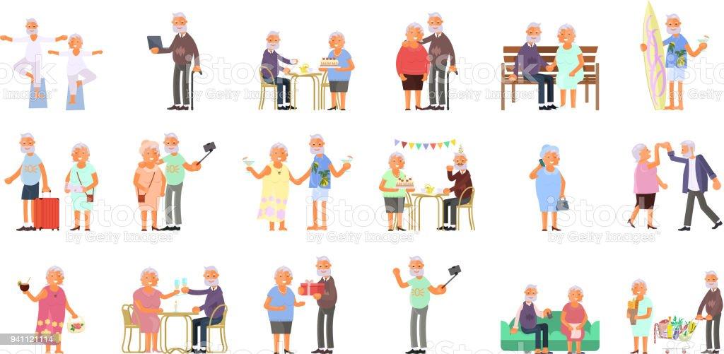 Healthy active lifestyle vector art illustration