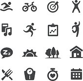 Healthy and Fitness Lifestyle Icons - Acme Series