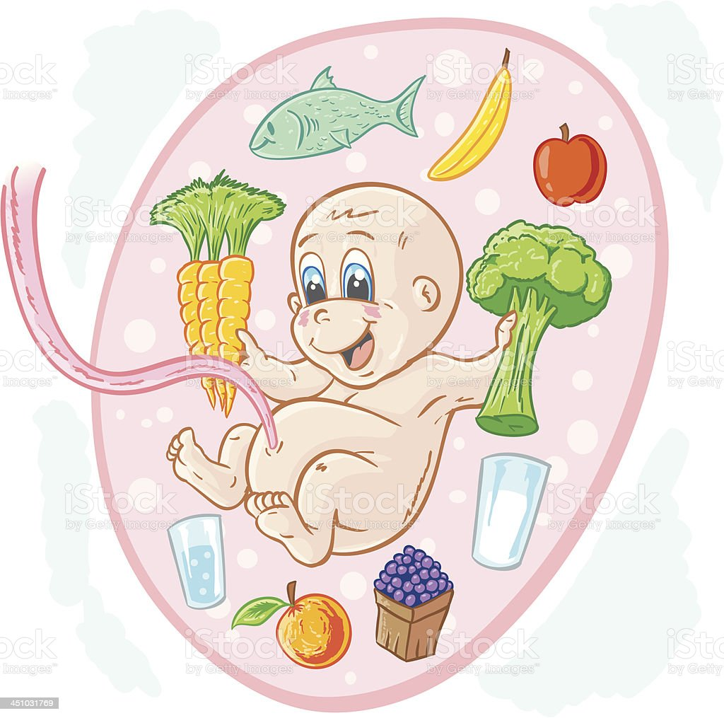 Healthy baby vector art illustration