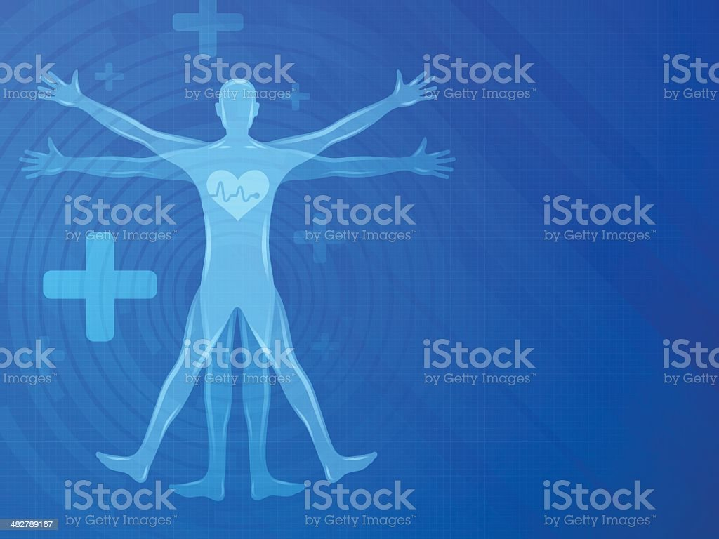 Healthy Body Background Stock Vector Art More Images Of Anatomy