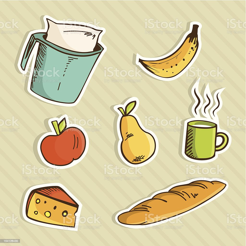 Healthy cartoon food royalty-free healthy cartoon food stock vector art & more images of adult