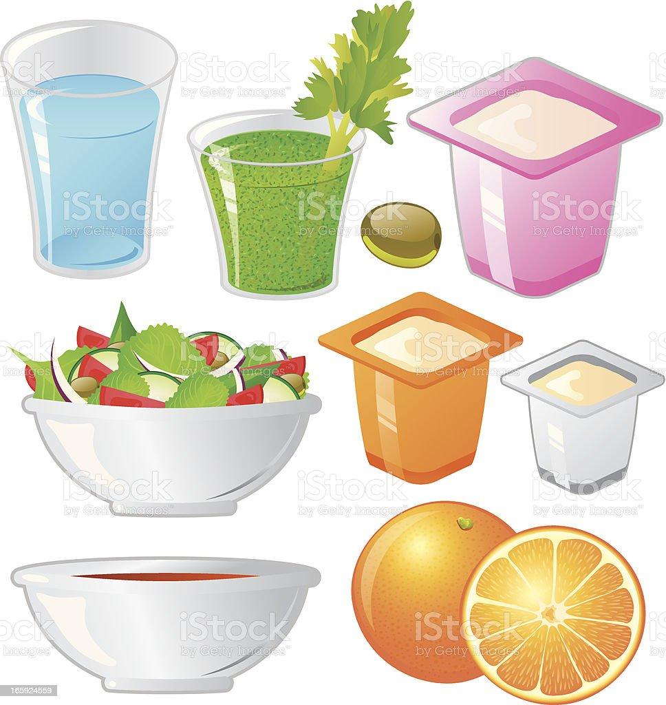 Healthy Choices vector art illustration