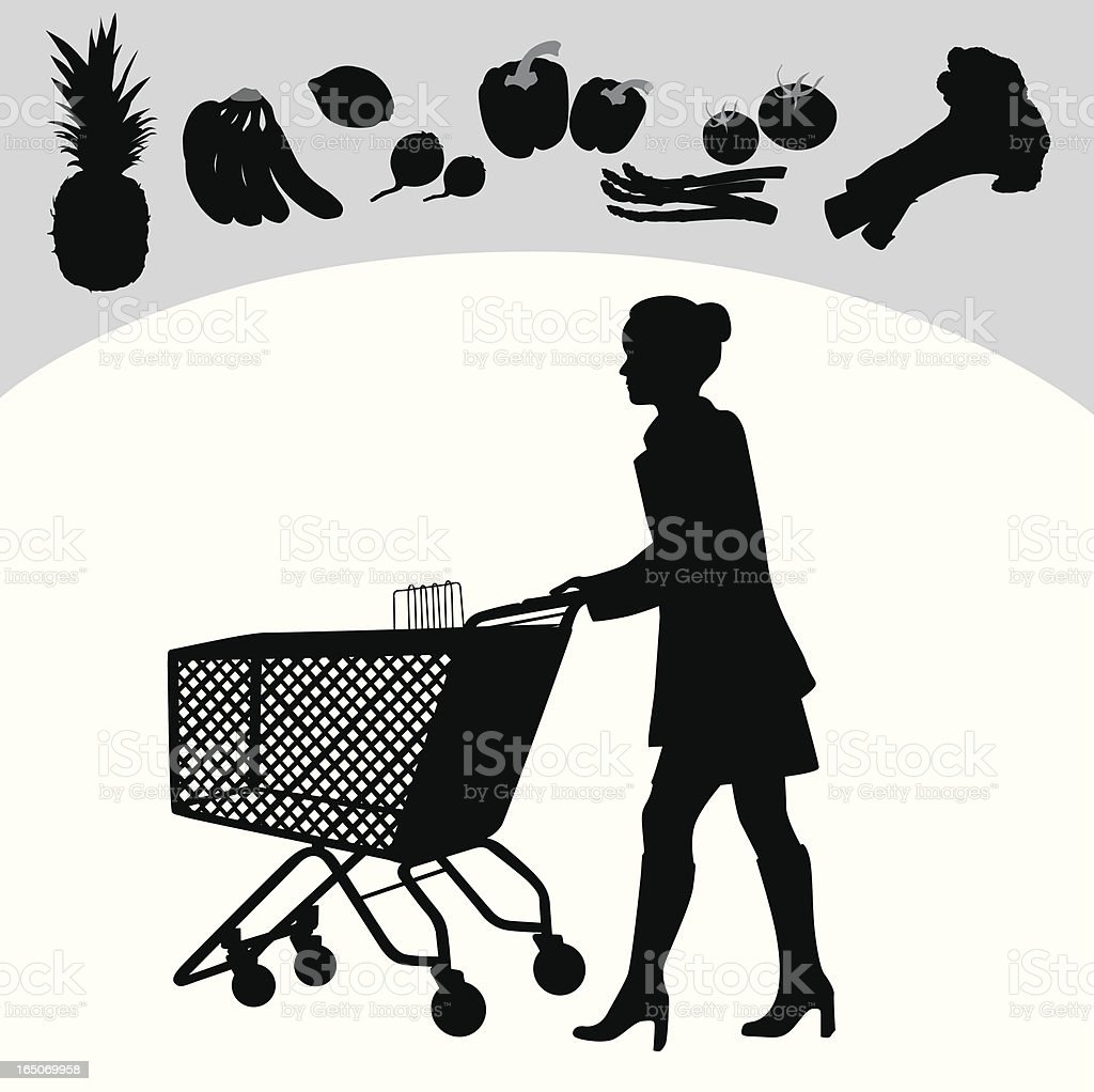 Healthy Choices Vector Silhouette royalty-free stock vector art
