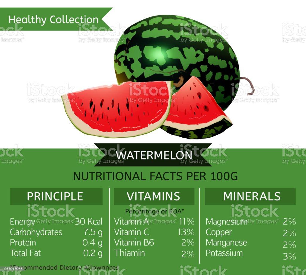 Gesunden Sammlung Wassermelone Stock Vektor Art Und Mehr Bilder Von