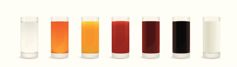 Healthy drinks glasses