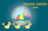 Healthy Easter concept.2020.