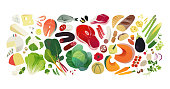 istock Healthy eating banner 1208813268