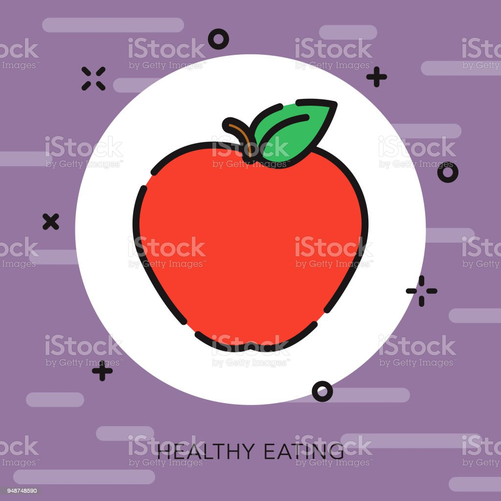 Healthy Eating Open Outline Fitness Icon Stock Vector Art & More