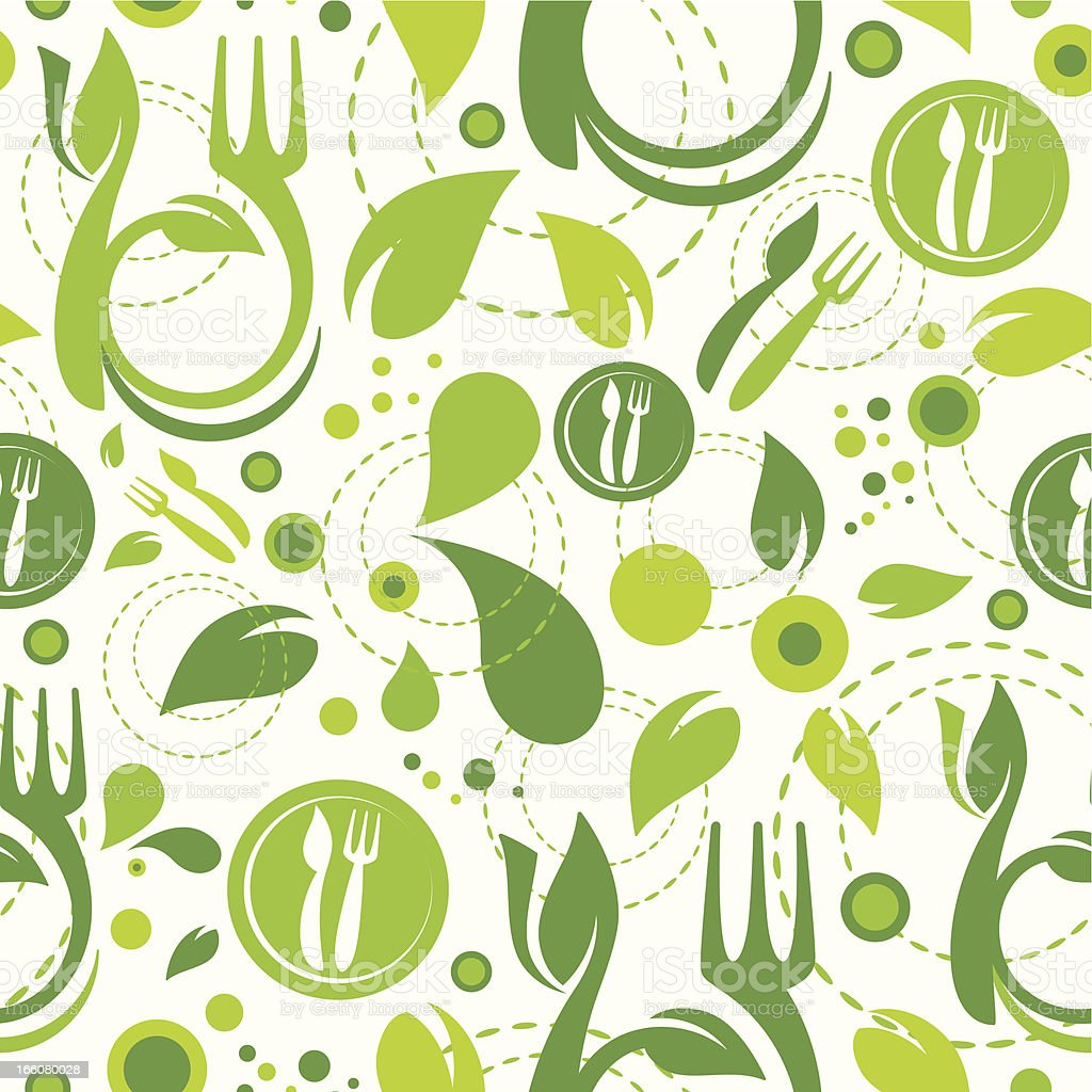 Healthy Eating Seamless Wallpaper royalty-free stock vector art