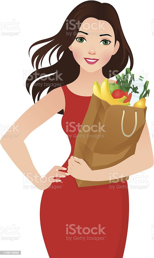 Healthy eating secret of beauty royalty-free stock vector art