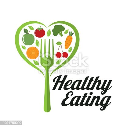 healthy eating. eps 10 vector file