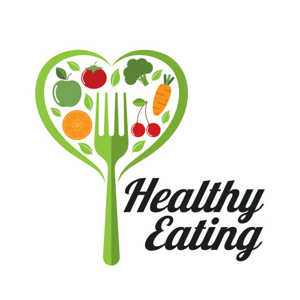 ilustrações, clipart, desenhos animados e ícones de uma alimentação saudável - healthy food