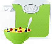 Vector healthy eating concept