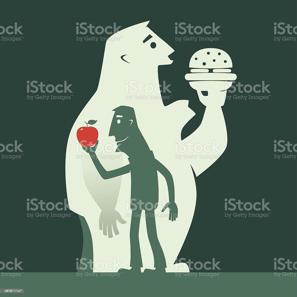 healthy eating vector art illustration