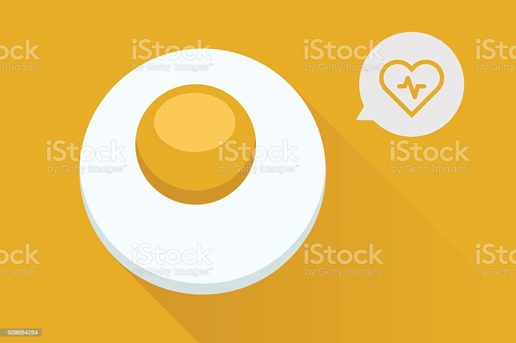 Healthy eggs vector art illustration