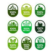 100% Bio, Organic, Vegetal, Vegetarian, Natural, Free Range, Vegan, Hand Made, Eco
