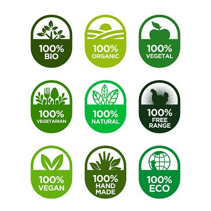 Healthy Food And Healthy Life Icons Set - Immagini vettoriali stock e altre immagini di Adesivo