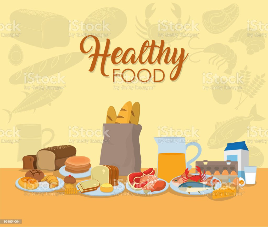 Healthy food bakery products royalty-free healthy food bakery products stock vector art & more images of bakery