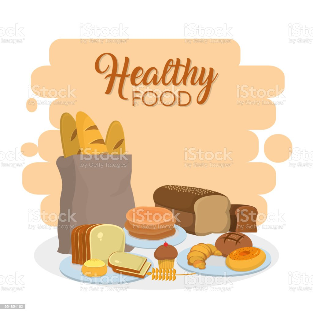 Healthy food bakery products royalty-free healthy food bakery products stock vector art & more images of baguette