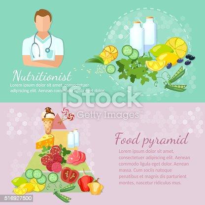 Healthy food banner nutritionist diet dietetics eating right
