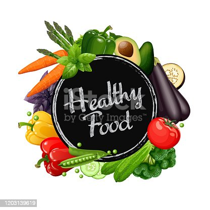 Healthy food collection. Vector illustration.