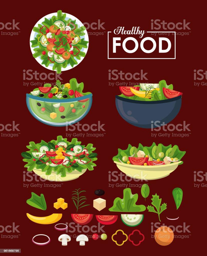 concept de restauration saine concept de restauration saine vecteurs libres de droits et plus d'images vectorielles de aliment libre de droits