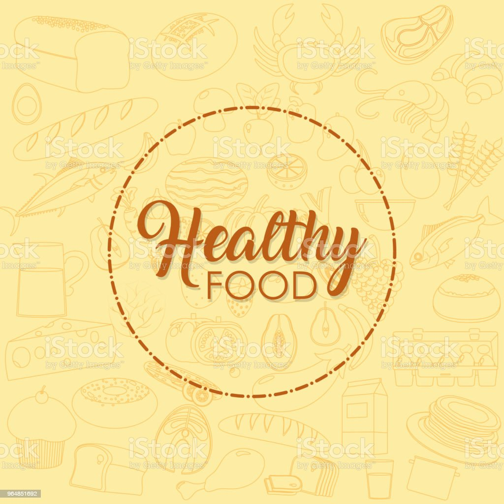 Healthy food concept royalty-free healthy food concept stock vector art & more images of beige