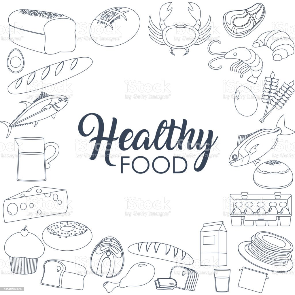 Healthy food concept royalty-free healthy food concept stock vector art & more images of bakery