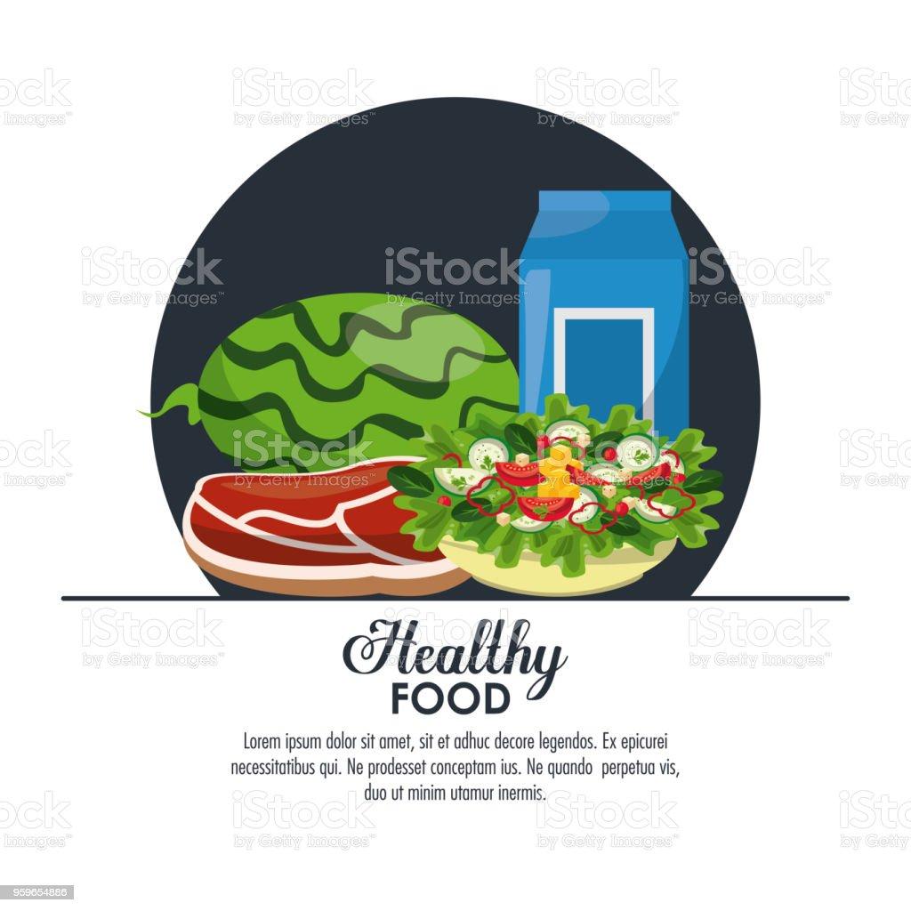 Infografía de comida sana - arte vectorial de Alimento libre de derechos