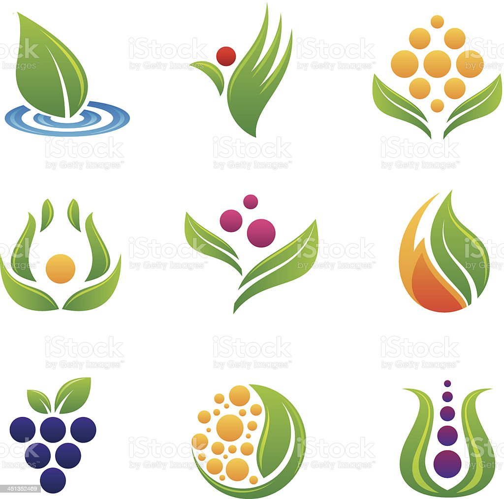 Healthy food logos and icons royalty-free healthy food logos and icons stock vector art & more images of abstract