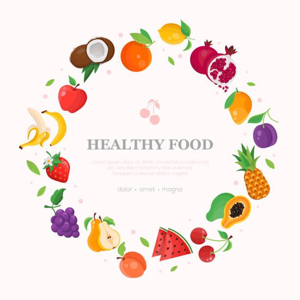 健康食品 - 近代的なカラフルなベクトル図 - ぶどう イラスト点のイラスト素材/クリップアート素材/マンガ素材/アイコン素材