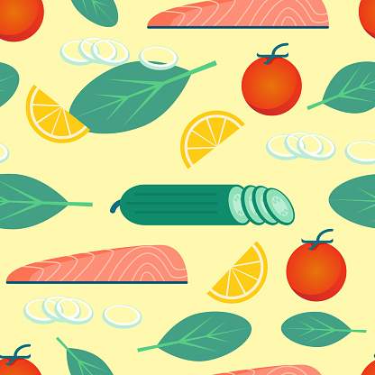 Healthy Food on Yellow Background. Vegetables.