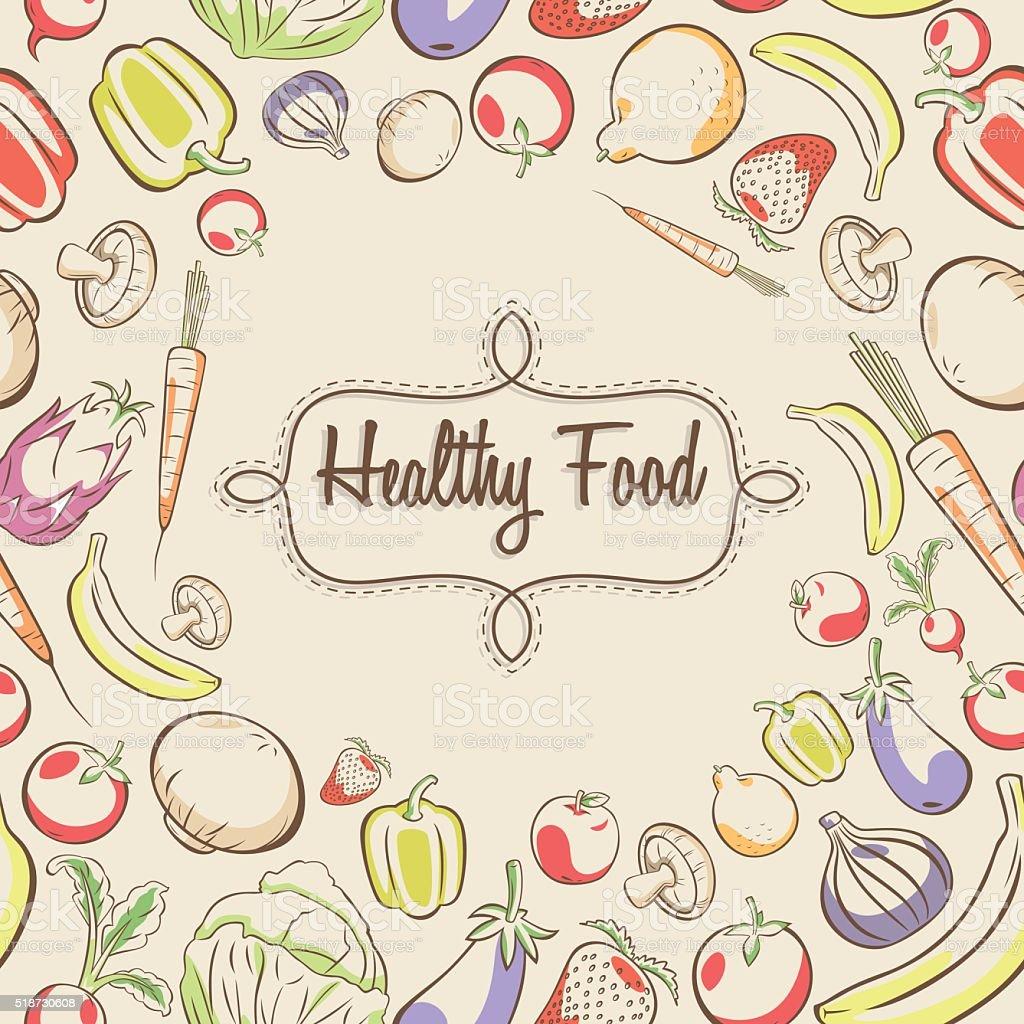 Zdrowe Jedzenie Plakat Stockowe Grafiki Wektorowe I Więcej Obrazów