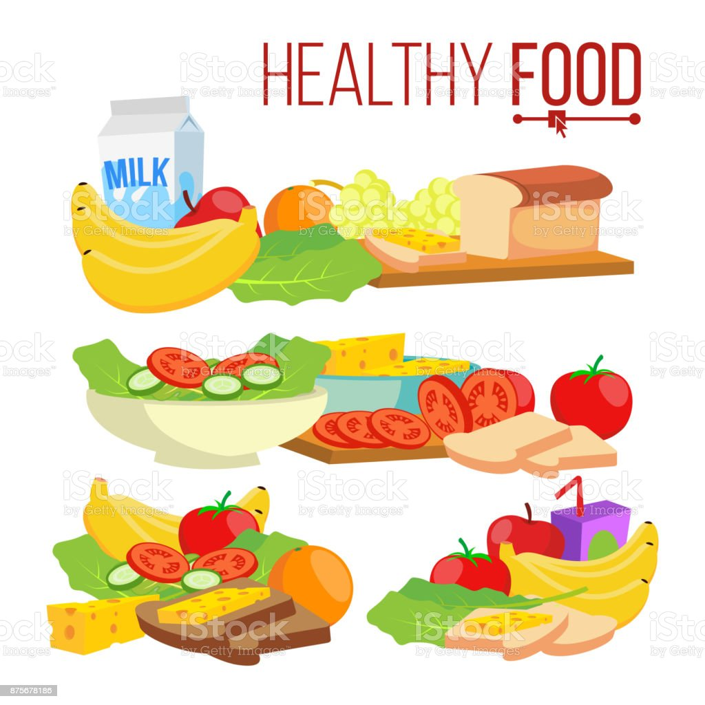 Healthy Food Vector Help Healthcare Healthy Eating Concept Health Benefits Isolated Flat Cartoon Illustration Stock Illustration Download Image Now Istock