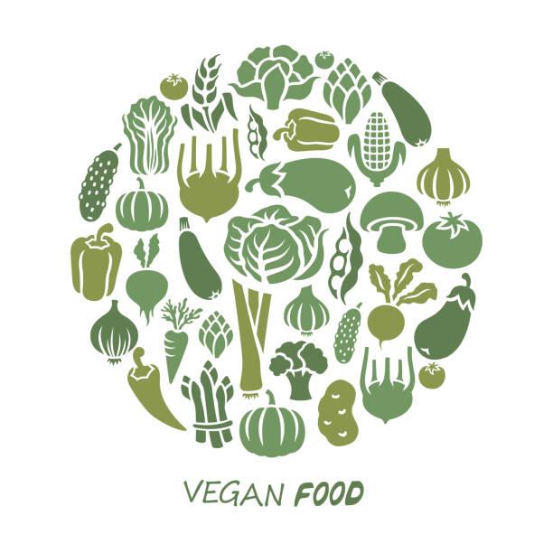 Healthy Food Vegan food. Healthy food. fruit silhouettes stock illustrations