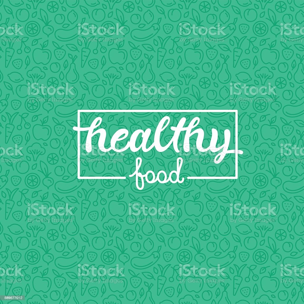 Healthy food vector art illustration