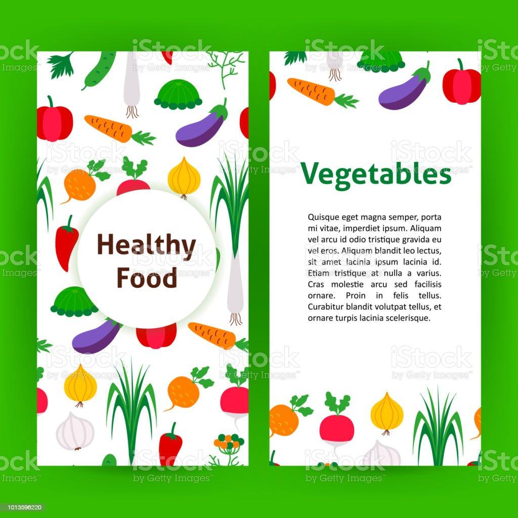 Wonderlijk Gezonde Voeding Groenten Flyer Stockvectorkunst en meer beelden PO-84