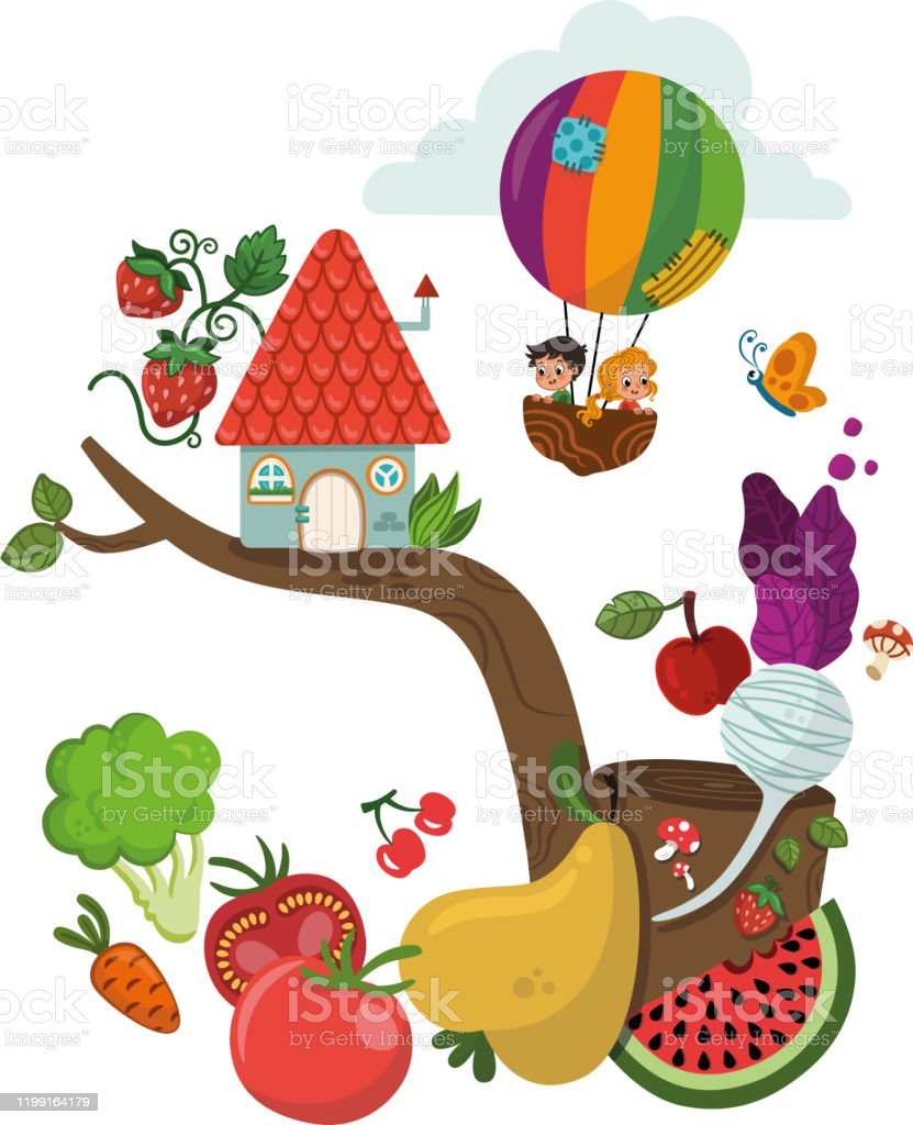 Healthy Foods And Children Stock Illustration Download Image Now Istock