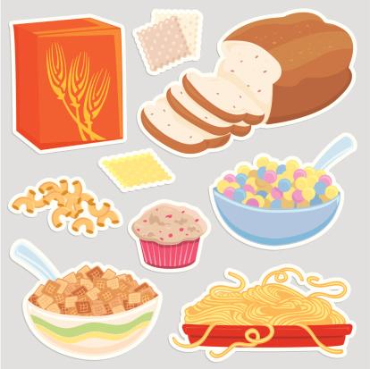 Healthy Grain food icons