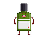 Healthy Happy And Cute Medicine Bottle Illustration Cartoon, Suitable For Children Book, Character, Game Asset, Infographic, Illustration, And Other Graphic Related Assets