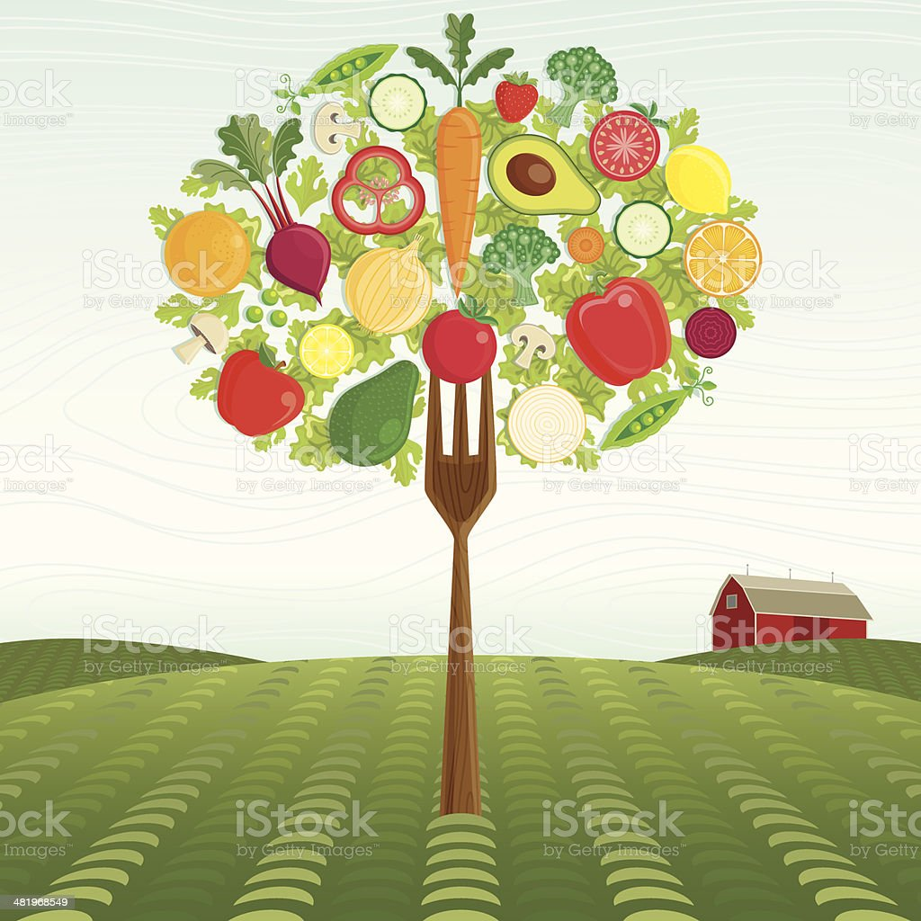 Healthy Harvest vector art illustration
