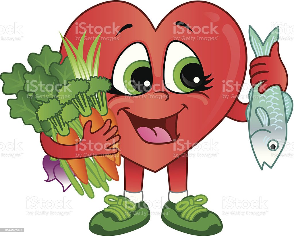Food and good health - Healthy Heart Foods Royalty Free Stock Vector Art