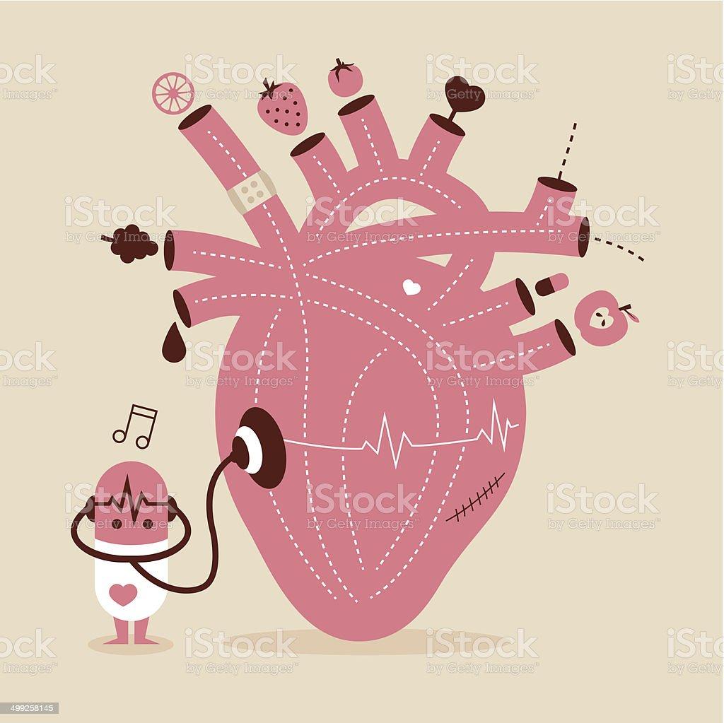 Gesundes Herz – Vektorgrafik