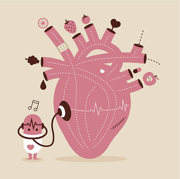 healthy heart - vegetable blood stock illustrations, clip art, cartoons, & icons